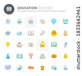 color vector icons related to... | Shutterstock .eps vector #1833662461