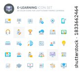 color vector icons related to... | Shutterstock .eps vector #1833662464