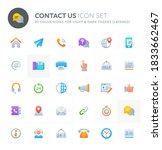 color vector icons related to... | Shutterstock .eps vector #1833662467