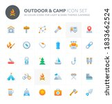color vector icons related to... | Shutterstock .eps vector #1833662524