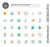 color vector icons related to... | Shutterstock .eps vector #1833662551