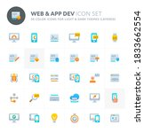 color vector icons related to... | Shutterstock .eps vector #1833662554