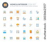 color vector icons related to... | Shutterstock .eps vector #1833662557
