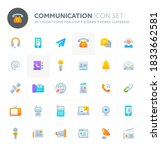 color vector icons related to... | Shutterstock .eps vector #1833662581