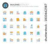 color vector icons related to... | Shutterstock .eps vector #1833662587