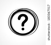 question mark icon | Shutterstock .eps vector #183367517