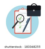 icon business briefcase black... | Shutterstock .eps vector #183368255