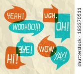 hand drawn speech bubble set... | Shutterstock .eps vector #183370511