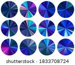blue radial metallic gradient...
