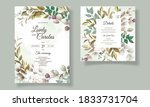 beautiful floral wedding... | Shutterstock .eps vector #1833731704