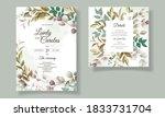 beautiful floral wedding...   Shutterstock .eps vector #1833731704