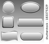 set of silver buttons. raster... | Shutterstock . vector #183375329