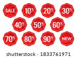 discount sticker number ... | Shutterstock .eps vector #1833761971