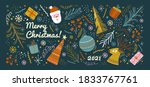 merry christmas and happy new...   Shutterstock .eps vector #1833767761
