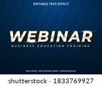 webinar text effect with bold... | Shutterstock .eps vector #1833769927