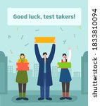 college scholastic ability test ...   Shutterstock .eps vector #1833810094