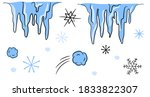 vector winter cartoon doodle...