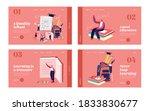 school presentation landing... | Shutterstock .eps vector #1833830677