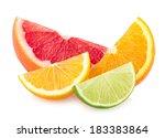 colorful citrus slices | Shutterstock . vector #183383864
