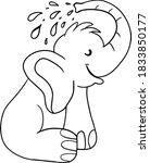 Funny Cartoon Baby Elephant...