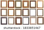 frames baguettes gold silver...   Shutterstock . vector #1833851467