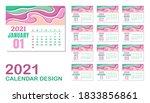 2021 calendar graphic design...   Shutterstock .eps vector #1833856861