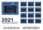 2021 calendar graphic design...   Shutterstock .eps vector #1833856864