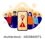 smartphone health tracking... | Shutterstock .eps vector #1833860071
