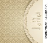 vintage ornamental template... | Shutterstock .eps vector #183386714