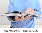 man reading a book | Shutterstock . vector #183387965