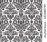 damask seamless floral pattern... | Shutterstock .eps vector #183388799