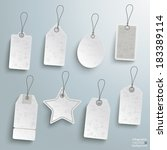 8 sale stickers on the grey... | Shutterstock .eps vector #183389114