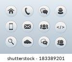 web  communication icons ... | Shutterstock .eps vector #183389201