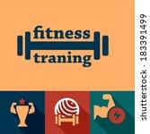 elegant fitness and sport... | Shutterstock .eps vector #183391499