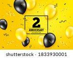 2 years anniversary.... | Shutterstock .eps vector #1833930001