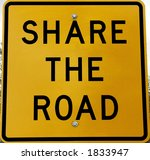 reflective share the road sign | Shutterstock . vector #1833947