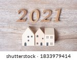 2021 Happy New Year With House...
