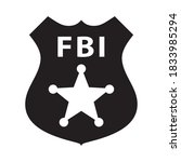 Abstract Fbi Badge Black And...
