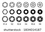 set of aperture icons. camera... | Shutterstock .eps vector #1834014187