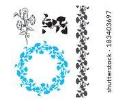 morning glory flower floral...   Shutterstock .eps vector #183403697