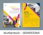 abstract minimal geometric... | Shutterstock .eps vector #1834053364