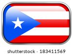 puerto rico flag rectangle... | Shutterstock . vector #183411569