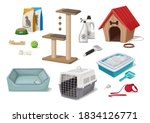 vector cartoon style pet shop... | Shutterstock .eps vector #1834126771