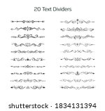 set of hand drawn text dividers ... | Shutterstock .eps vector #1834131394