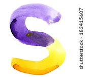 Letter S   Colorful Watercolor...