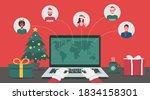 concept of santa claus hand... | Shutterstock .eps vector #1834158301