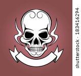 skull icon   Shutterstock .eps vector #183416294