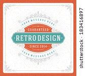 retro typographic design... | Shutterstock .eps vector #183416897