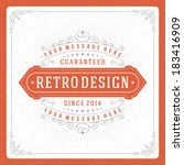 retro typographic design... | Shutterstock .eps vector #183416909