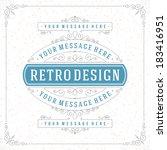retro typographic design...   Shutterstock .eps vector #183416951